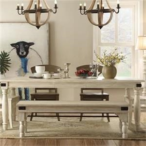 Regan Dining Table W Bench Home Furniture Co