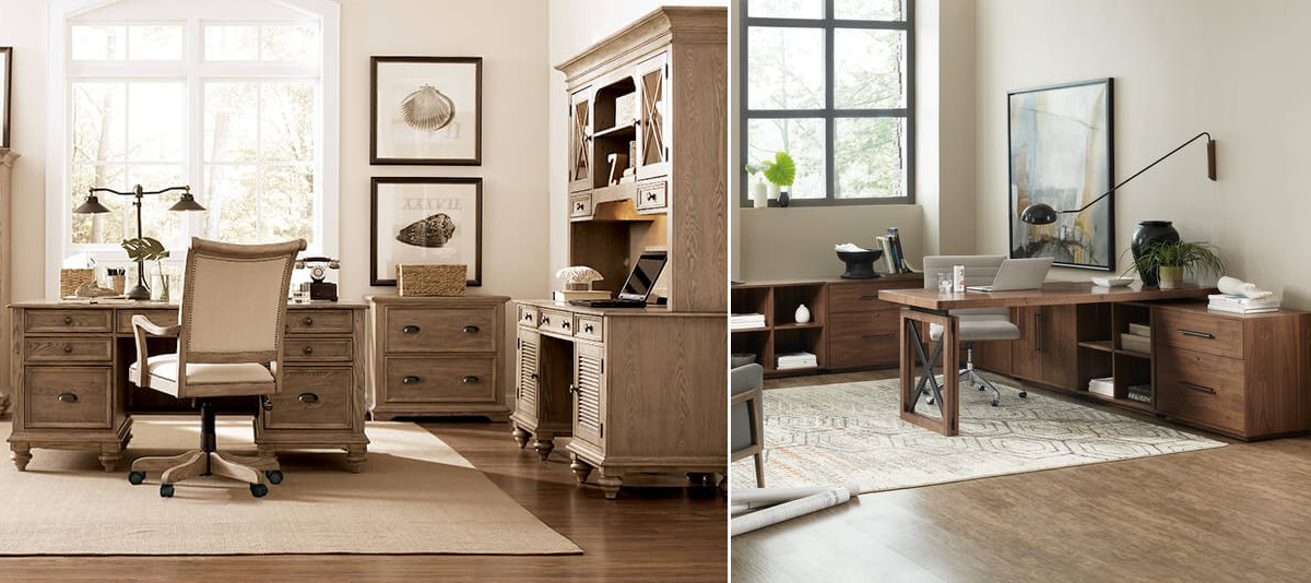 The Downing Street Executive Curio Desk: Home Furniture Co